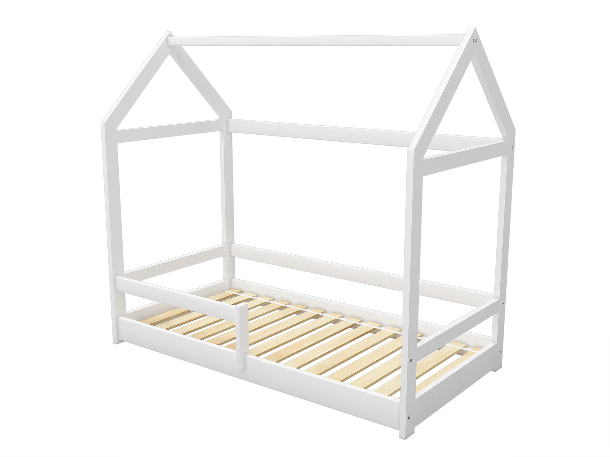 Children Bed Frame House Bed Scandinavian Style 4 Dimensions White Natural Ebay