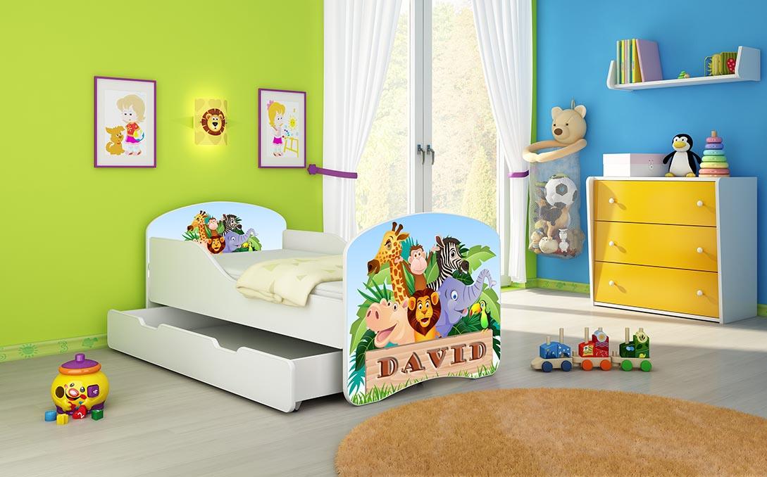 jugendbett kinderbett mit einer schublade und matratze 140x70 160x80 180x80 ebay. Black Bedroom Furniture Sets. Home Design Ideas